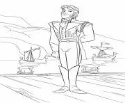 Hans bel homme royal royaume voisin dessin à colorier