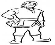 Kristoff vit dans les montagnes dessin à colorier