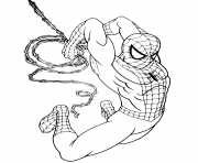 Coloriage Spider Man created by Stan Lee and Steve Ditko