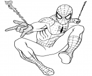 Coloriage Spiderman returning to Marvel Universe