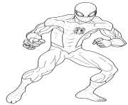 Coloriage Spiderman fresh start