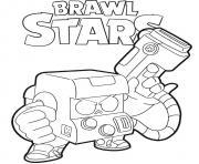 8 Bit Brawl Stars dessin à colorier