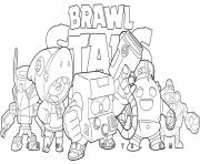 Brawler Team Brawl Stars dessin à colorier