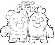 Cactus Love Brawl Stars dessin à colorier