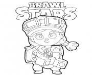 Jessie Brawl Stars dessin à colorier