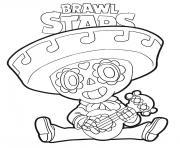 Coloriage Mecha Crow Brawl Stars Game dessin