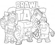 Coloring and Drawing: Shark Leon Brawl Stars Coloring Pages