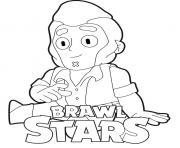 Colt Smiling Brawl Stars dessin à colorier
