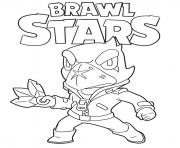 Coloriage Crow Brawl Stars Game