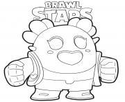 Sakura Spike Brawl Stars dessin à colorier