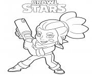 Shelly Brawl Stars Character dessin à colorier