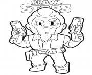 Colt Ready Brawl Stars dessin à colorier