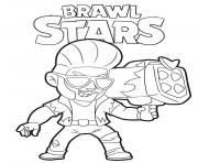 Coloriage Hot Rod Brock Brawl Stars