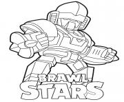 Mecha Bo Brawl Stars dessin à colorier