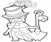 Brawl Stars Mortis dessin à colorier