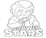 Colt Brawl Stars dessin à colorier