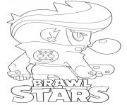 Brawl Stars BibiBack dessin à colorier