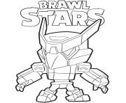 Coloriage Mecha Crow Brawl Stars Game