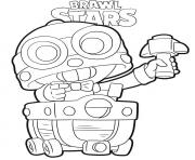 Brawl Stars Carl dessin à colorier