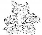 Mecha Crow Brawl Stars dessin à colorier
