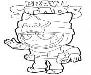 Sandy Brawl Stars dessin à colorier