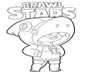Coloriage Shark Leon Brawl Stars