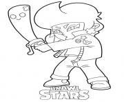 Bibi Brawl Stars dessin à colorier