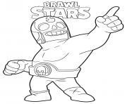 Brawl Stars El Primo dessin à colorier