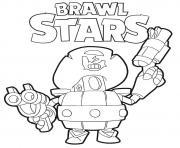Daryl Brawl Stars dessin à colorier
