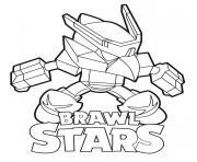 Mech Crow Brawl Stars dessin à colorier