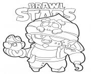 Coloriage Pirate Gene Brawl Stars