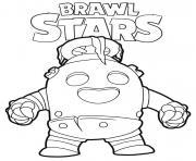 Robo Spike Brawl Stars dessin à colorier