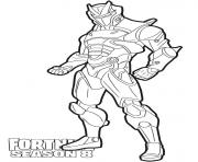 Coloriage Omega from Fortnite Season 8