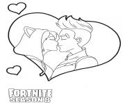 Coloriage Drift kiss from Fortnite Love