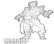 Coloriage Prisoner skin from Fortnite Season 7