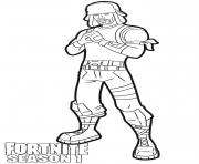 Coloriage Yuletide Ranger skin from Fortnite