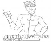 Coloriage Catwoman Fortnite Batman Season 10