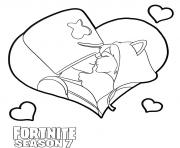 Coloriage Just a Kiss Fortnite Marshmello kiss