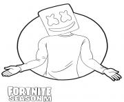 Coloriage Marshmello skin from Fortnite Season M