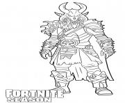 Coloriage Ragnarok skin from Fortnite