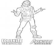 Coloriage Starlord Fortnite Avengers Endgame