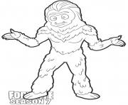Coloriage Trog skin from Fortnite Season 7