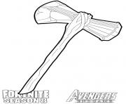 Coloriage stormbreaker from Fortnite and Avengers