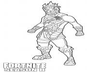 Coloriage Molten Battle Hound from Fortnite Season 8