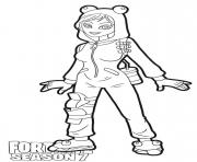 Coloriage Onesie skin from Fortnite Season 7