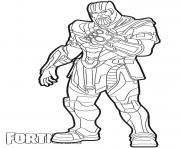 Coloriage Thanos skin from Fortnite