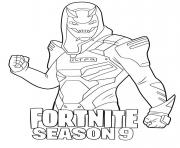 Coloriage Vendetta skin from Fortnite Season 9
