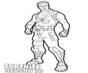 Coloriage Dark Jonesy skin from Fortnite season 10