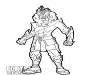 Coloriage Snowfoot skin from Fortnite Season 7