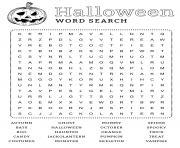 Halloween Mot Cache Anglais dessin à colorier
